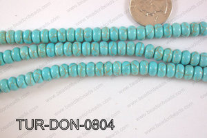 Howlite Donut 8mm TUR-DON-0804