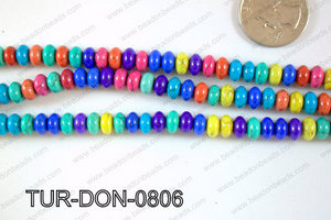 Howlite Donut 8mm TUR-DON-0806