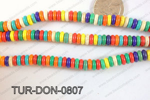 Howlite Donut 8mm TUR-DON-0807