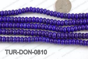 Howlite Donut Dark Blue 8mm TUR-DON-0810