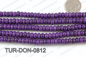 Howlite Donut Purple 8mm TUR-DON-0812