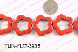 howlite peace red 35mm TUR-FLO-3205