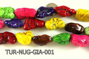 Turquoise Nugget Giant Multi-Color 16 '' TUR-NUG-GIA-001