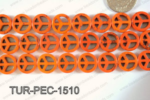 Howlite Peace 15mm TUR-PEC-1510