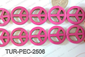Howlite Peace 25mm TUR-PEC-2506