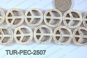 Howlite Peace 25mm TUR-PEC-2507