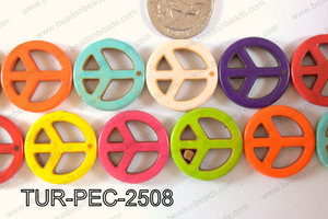 Howlite Peace 25mm TUR-PEC-2508