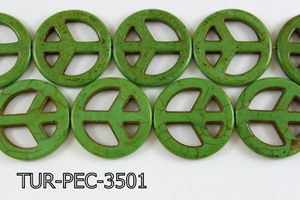 howlite peace green 35mm TUR-PEC-3501