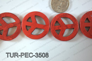 howlite peace red 35mm TUR-PEC-3508