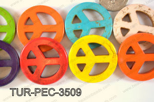 howlite peace multicolor 35mm TUR-PEC-3509