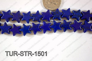 Howlite Star 15x15mm TUR-STR-1501