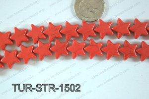 Howlite Star 15x15mm TUR-STR-1502
