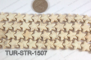 Howlite Star White 15mm TUR-STR-1507