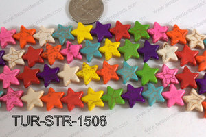 Howlite Star Multicolor 15mm TUR-STR-1508