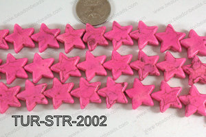 Howlite Star blue/red/white 20mm TUR-STR-2002