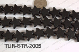 Howlite Star Black 20mm TUR-STR-2005