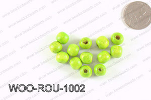 Round Wood Beads Green 10mm WOO-ROU-1002