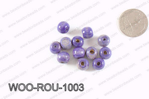 Round Wood Beads Dark Blue 10mm WOO-ROU-1003