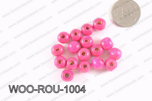 Round Wood Beads Dark Purple 10mm WOO-ROU-1004