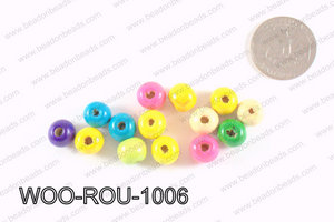 Round Wood Beads Multicolor 10mm WOO-ROU-1006