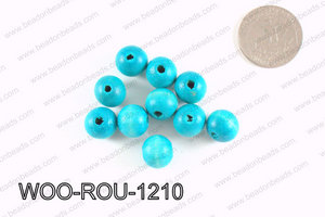 Round Wood Beads Light Blue 12mm WOO-ROU-1210