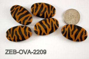 Zebra Bead Oval 22x36mm 500 Gram Bag ZEB-OVA-2209